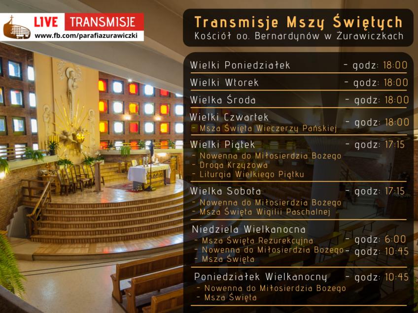 Transmisje z naszej świątyni w Wielkim Tygodniu